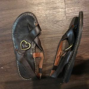 Lucky Brand leather sandals shoes size 37 / 7M